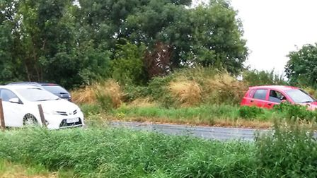 There was another accident on Padnal Bank this week - this time involving three cars.