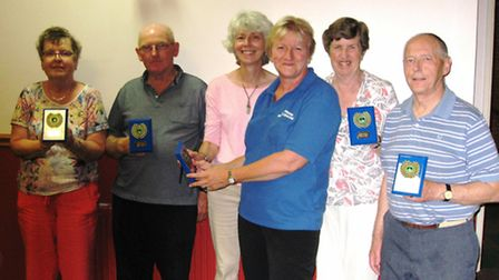 The winning Swifts team: Angela Newling, Michael Webb, Anne Solly, Claire Norton from Ross Peers Spo