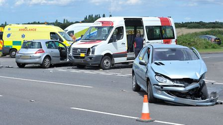 RTC, A141 Junction Knights End Road. Picture: Steve Williams.