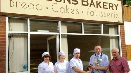 Big buns comes to Wisbech. Photo caption: The Wisbech and District Chamber of Commerce team welcome