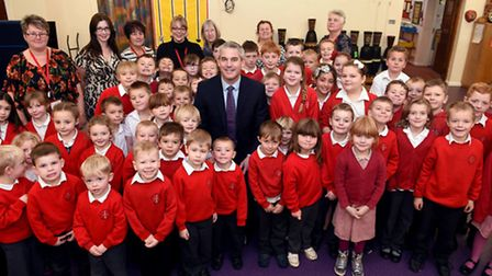 Big smiles at Guyhirn Primary School which Ofsted has rated as good