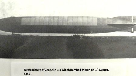Zeppelin Air Raid on March Aug 1st 1916 - Exhibition at March Museum,