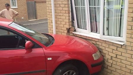 Dangerous driver flees after crashing into house in The Limes, Whittlesey