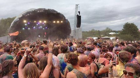 The paint fight at The Secret Garden Party.