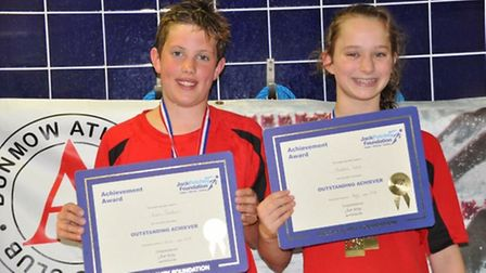 Aidan Clarkson and Maddie Lees, winners of the Jack Petchey awards