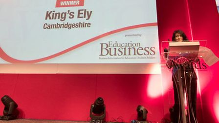 King's Ely have won their second consecutive award at the annual Education Business Awards earlier t
