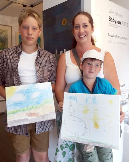 Charity Art Exhibition for Cambridgeshire Timebanking. 14 year old Bruce Hall painted his version of