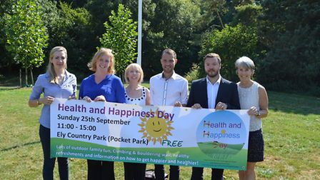 Health and Happiness Previous, Ely: (L-R) Eleanor Priestnall, Sarah Porter, Jackie Brisbane, Cllr Jo