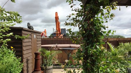 View from Mick Woollaston's home of Snowley Park new development