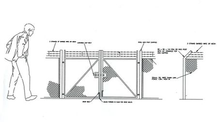 Manea pit proposed fence,
