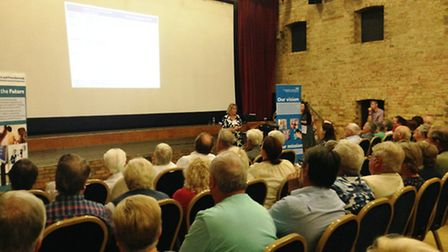 Residents spoke out over the potential closure of the Princess of Wales Minor Injury Unit.