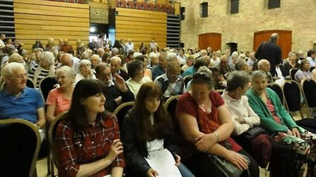 The Maltings in Ely was filled to capacity as residents and councillors let the CCG know what they t
