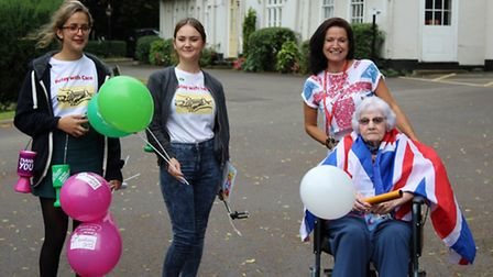 L-R: The two organisers of the event Nadia Algazar and Kirsty Fenlon joined by Head of Activities J