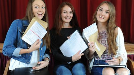 Students with GCSE results at Cromwell