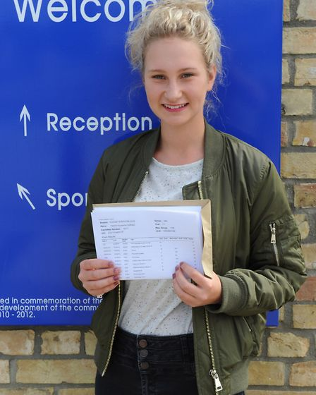 Yasmin Holliday with GCSE results Neale Wade