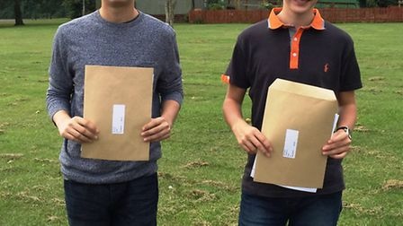 Witchford Village College students celebrate receiving their GCSE results.