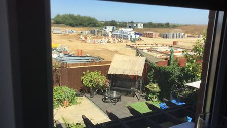 View of footings of show home at Snowley Park Whittlesey