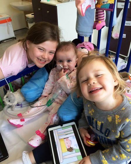 Gabriella Stearne with her big sisters Alexis and Imogen