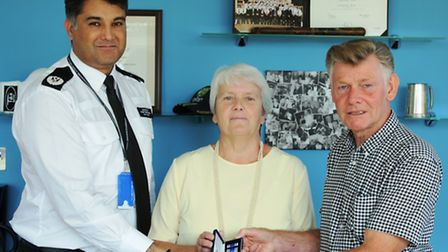 Paul and Christine Buck with Assistant Chief Constable