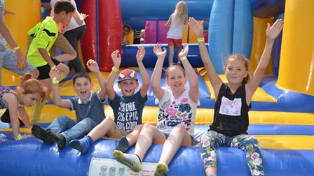 ThePORT Youth Group hosting an inflatable day at Littleport Leisure Centre,
