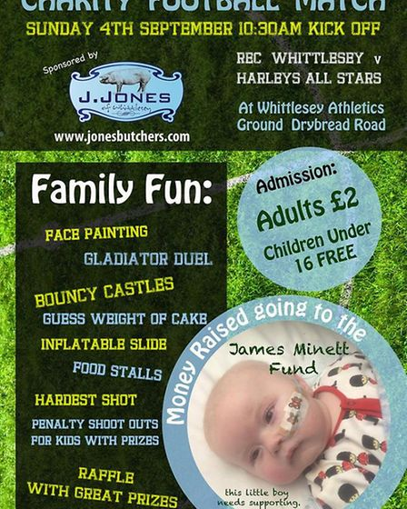 Charity football match and family fun day in Whittlesey