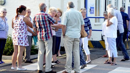 Villagers refused entry into CCG meeting in Doddington.