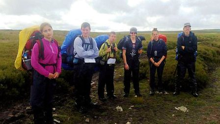 The six cadets from 1220 (March) Squadron who completed their Silver Duke of Edinburgh's Award Exped