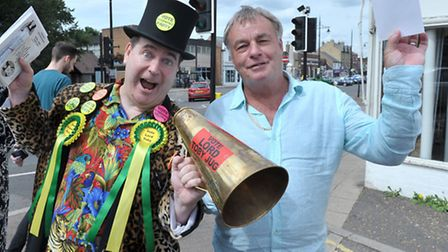 Lord Toby Jug with Fenland councillor Dave Connor. Picture: Steve Williams.