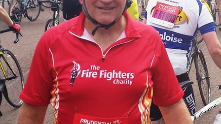 Martin Claydon after completing the Ride London 100.