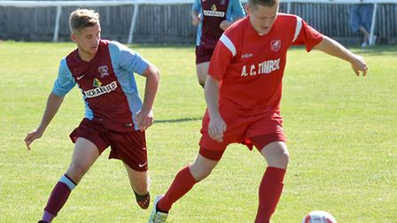 Summer signing George Darling (right) failed to make an impact as Ely City were hammered 4-1 by Deep
