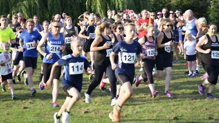 The 'Weakest Link Relay' gets underway at West End park, March.