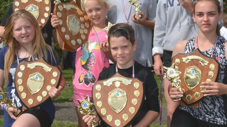 Ross Peers Sports Centre, Soham, holds its Superstars day, the age group winners