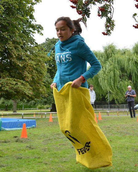 Ross Peers Sports Centre, Soham, holds its Superstars day, Cerys in action