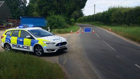 A man and a woman have died following a crash on Severalls Road in Methwold Hythe.