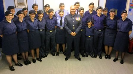 Wing Commander Paul Bower visits Air Cadets at 1220 (March) Squadron.