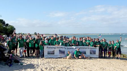 Dorset Sponsored Walk completed by families and friends from Ely in aid of The Malcom Whales Foundat