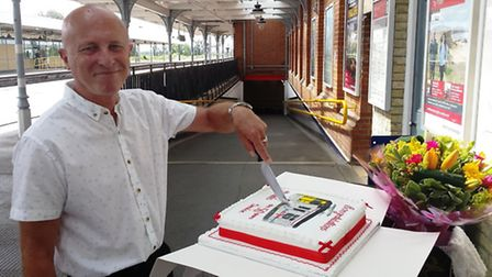 Ely grandfather Dennis Squirrel is celebrating half a century working on the railway.