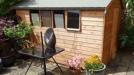 One of the sheds situated to the rear of the property.