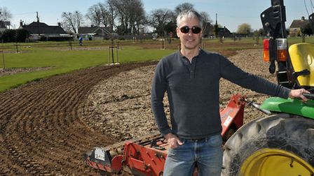 The Welney Recreation Ground Users Group working on the recreation area known as Sandgate Corner, Ch