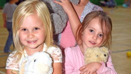Littleport Leisure Centre Teddy Bear's Picnic, (l-r) Lunasa, Temperance, and Poppy, with their bears