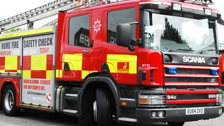 Fire crews rescued a dog from a house fire in Doddington yesterday.