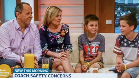 Screen grabs from Seb Goold and his family on Good Morning Britain. Picture: ITV / GOOD MORNING BRIT
