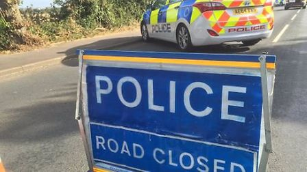Two vehicle crash in Wimblington Road, March