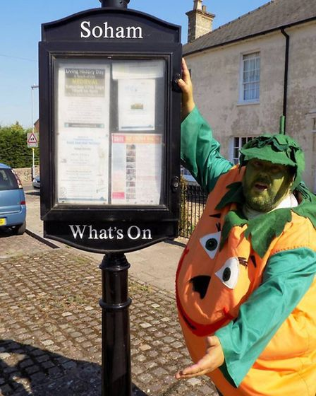 Mr Pumpkin has teamed up with the new Soham Town Team to promote the fair on September 24.