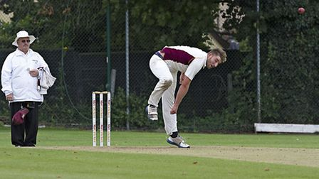 Tyler Phillips bowling for March. Picture: PAT RINGHAM.