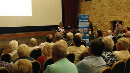 Over 170 people attended a public meeting with the Cambridgeshire and Peterborough CCG.