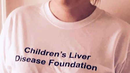 Naomi Moore who will be doing a sky dive this weekend to raise funds for Children's Liver Disease F