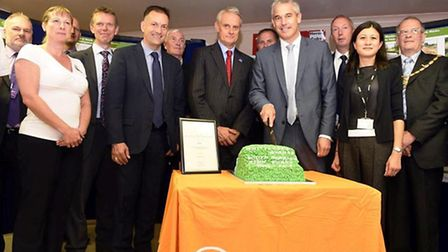 MP Steve Barclay celebrating the success of the Whittlesey Washes project with members of the Enviro