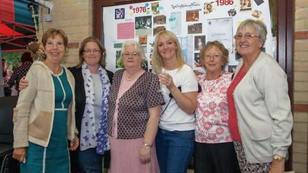 Ely36 Gill Stracey, who ran the school from 1984-1987; Helen Lewis, Jenny Staines, Alison Bewers, an