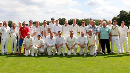 The two sides that took part in the Ian Bradshaw Memorial match. Photo: Catherine Henshaw